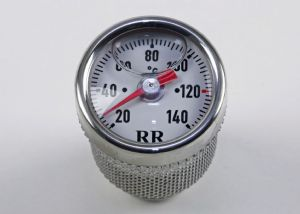TRIUMPH Oil Temperature Gauge (Celsius) 'White Face' 3 Cylinder Models.